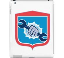 Mechanic Hand Holding Spanner Shield Punching iPad Case/Skin