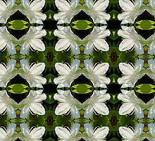 white Azalea pattern by yesdigiterarte