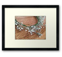Floral photograph - baby's breath flower crown Framed Print