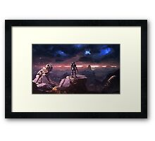 Spartan in the Storm Framed Print