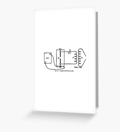 Principals of the Tesla Coil Greeting Card