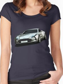 Aston Martin One-77 sports car Women's Fitted Scoop T-Shirt