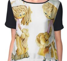 Young cookee and parlour maid Chiffon Top