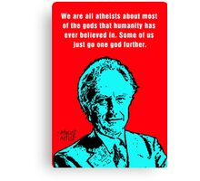 Richard Dawkins atheist Canvas Print