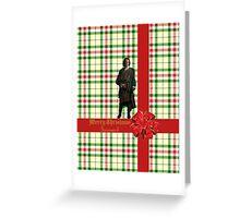 Merry Christmas Sassenach plaid  Greeting Card
