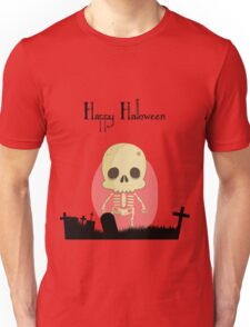 Happy Halloween With Cute Skull Character Unisex T-Shirt