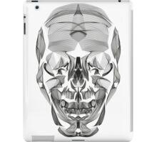 Human Skull Line Art Illustration iPad Case/Skin