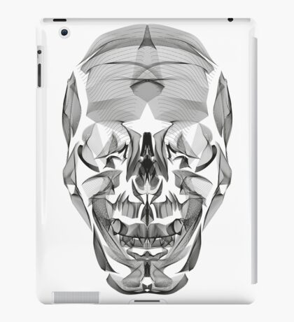 Human Skull Line Art Illustration iPad Case/Skin