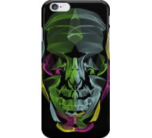Human Skull Line Art Illustration iPhone Case/Skin