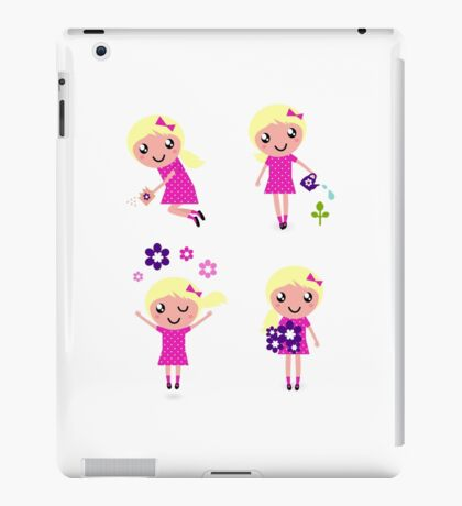 Cute little garden characters. New design in shop! iPad Case/Skin
