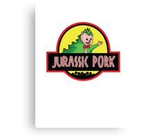 Jurassic Pork Canvas Print