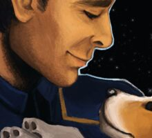 Captain Archer and Porthos Sticker