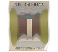 WPA United States Government Work Project Administration Poster 0107 See America Visit the National Parks Poster