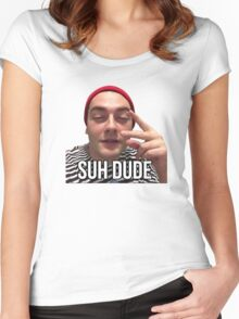 SUH DUDE - MEME, MEMES, VIRAL, VIRAL MEME, DANK MEME, TWINKIEMAN, SUH DUDE MEME, SUH DUDE T-SHIRT, CHEAP, BEST SELLER, HIGH QUALITY, VIRAL, VIRAL MEME Women's Fitted Scoop T-Shirt