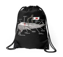 Whale Science Drawstring Bag