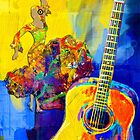 Lady And Guitar by Larry Costales