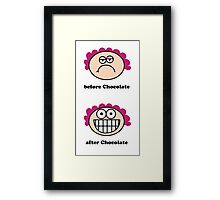 Chocolate - the before and after Framed Print