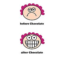 Chocolate - the before and after Photographic Print
