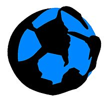 Abstract Soccer Ball by kwg2200
