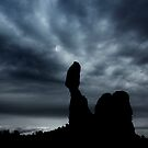 Moonrise Over Balanced Rock .3 by Alex Preiss