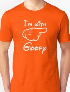 I'm with goofy, Mickey Hand, funny T-Shirt