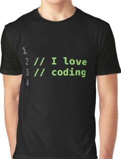 I Love Coding Graphic T-Shirt