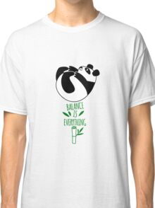 Balance Is Everything! Tumbling panda. Classic T-Shirt
