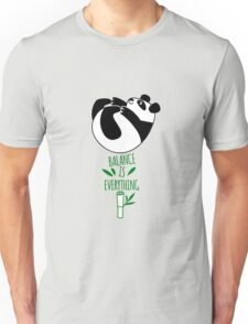Balance Is Everything! Tumbling panda. Unisex T-Shirt