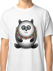 Panda traveler isolated character Classic T-Shirt
