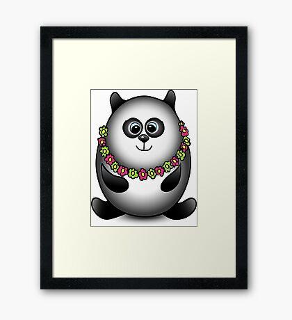 Panda traveler isolated character Framed Print