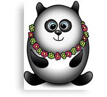 Panda traveler isolated character Canvas Print