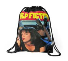 Pulp Fiction Poster Drawstring Bag