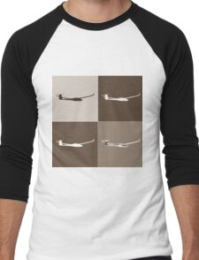 Sepia Glider Men's Baseball ¾ T-Shirt