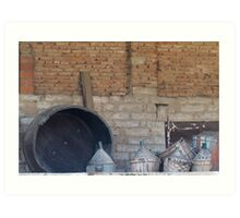 old wine barrel Art Print