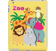 Cute Whimsy Zoo Animal Friends  iPad Case/Skin