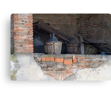 old wine barrel Canvas Print