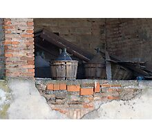 old wine barrel Photographic Print