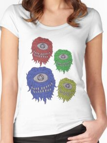 Multicoloured Cyclops Ghouls Women's Fitted Scoop T-Shirt