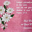 Wedding Anniversary Card by Ann12art
