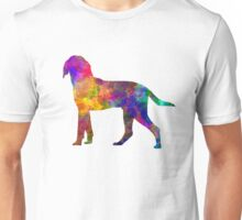 Anglo French Hound in watercolor Unisex T-Shirt