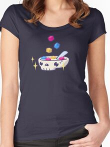 Pixels for Breakfast Logomark Women's Fitted Scoop T-Shirt