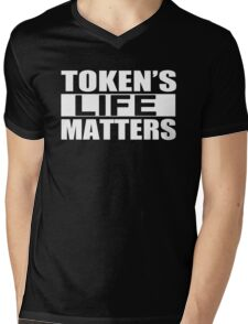 Tokens Life Matters Mens V-Neck T-Shirt