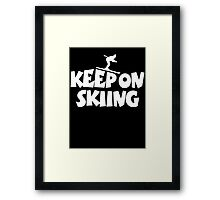 Keep On Skiing 1 White Framed Print
