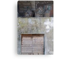 old wine barrel Metal Print