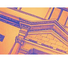 Drawing illustration of building detail of classical entrance  Photographic Print