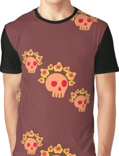 pattern with skulls and roses Graphic T-Shirt