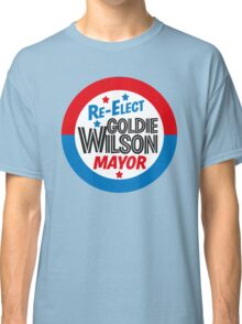 Back to the Future 'Re-Elect Mayor Goldie Wilson' design Classic T-Shirt