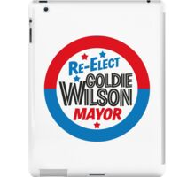 Back to the Future 'Re-Elect Mayor Goldie Wilson' design iPad Case/Skin