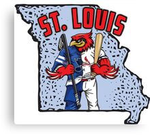 St. Louis Blues/Cardinals Mascot Mash-Up Canvas Print