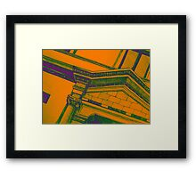 Drawing illustration of building detail of classical entrance  Framed Print